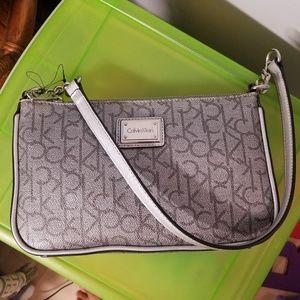 Calvin Klein silver purse